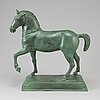 Skulptur, grönpatinerad brons, samtida tillverkning.