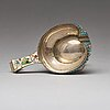A russian early 20th century silver-gilt and enameled kovsh, mark possibly of sasikow, moscow 1899-1908.