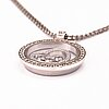 Chopard, a 18k white gold necklace 'happy diamonds' with diamonds, ca 1.5 ct in total.