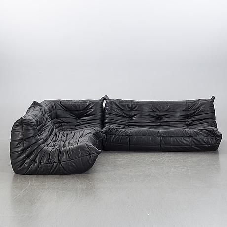 "Michel ducaroy, sofa, ""togo"",3 pcs,  ligne roset, late 20th century."