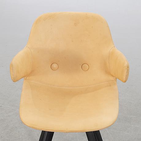 Johannes foersom & peter hiort-lorenzen, , an eyes  ej 3 a-w leather armchair for erik jörgensen.