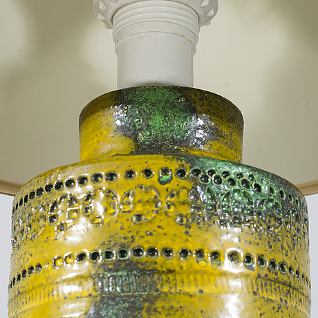 A table lamp from bitossi italy, second half of the 20th century.