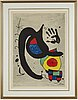 A litograph in colours after joan miró, edition 665/1000.