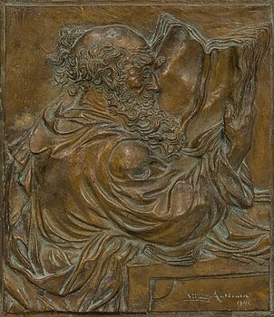 LIINA AALTONEN, A bronze relief, signed and dated 1941.