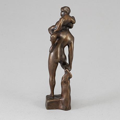 Fredrik frisendahl, sculpture, bronze, signed.