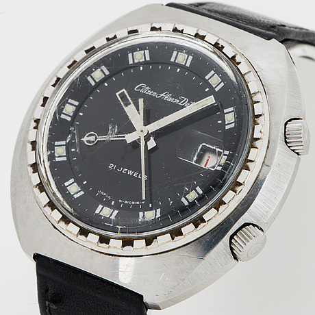 Citizen, alarm date, wristwatch, 42 x 41 (42) mm.