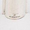 Tapio wirkkala, two silver vases with four silver ashtrays, marked tw, marks of kultakeskus oy, hämeenlinna 1960-64.