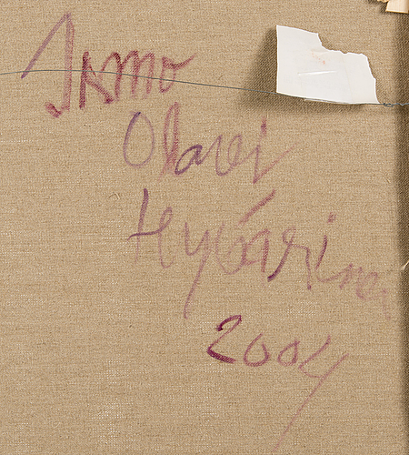 Ismo hyvÄrinen, oil on canvas, a tergo signed and dated 2004.