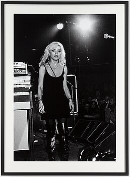 "CHRISTIAN CAVALLIN, photograph of ""Debbie Harry/Blondie"" signed and numbered 2/3."