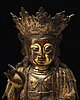 A seated figure of bodhisattva, ming dynasty (1368-1644).
