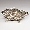 Pehr zethelius, a cruet stand in silver and cut glass, stockholm, sweden 1796.