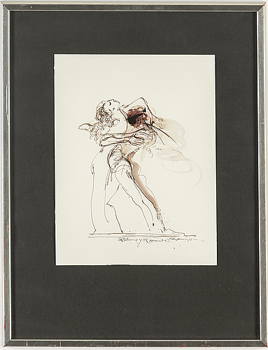 Bo Åke adamsson, watercolour and ink, signed.
