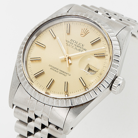 Rolex, oyster perpetual datejust, wristwatch, 36 mm.