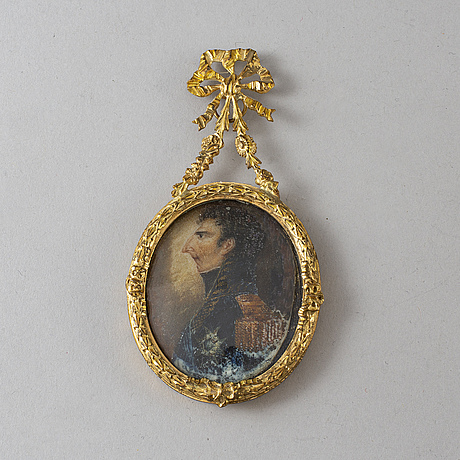 Miniature, early 19th century, gouache.