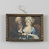 Miniature, 18th century, gouache.