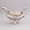 An english early 19th century silver cream-jug, mark of abraham peterson, london 1803.