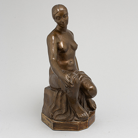 Rolf g kjellberg, a bronze sculpture, signed kjellberg, dated paris 1932 and numbered ex. ii/3.