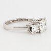 Brilliant-cut diamond  three-stone ring.