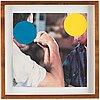 "John baldessari, ""two opponents (blue & yellow)""."
