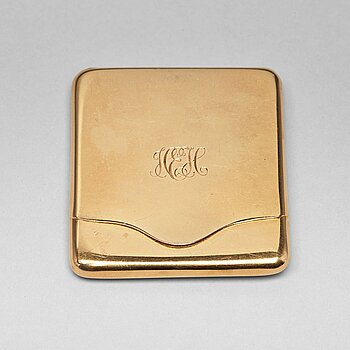 208. A Swedish 20th century 18ct gold case, mark of K. Andersson, Stockholm 1920.