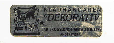 Three hangers, anderstorp, second half of the 20th century.