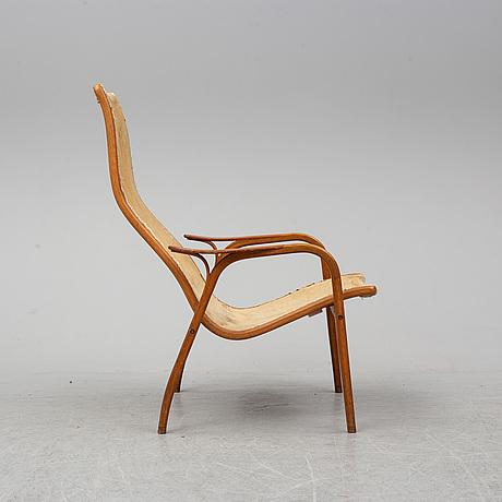 Yngve ekstrÖm, an oak and teak 'lamino' easy chair from swedese.