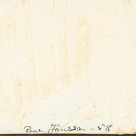 Rune jansson, olja på duk, signerad och daterad -58.
