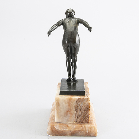 Carin nilson, attributed to, sculpture, bronze.
