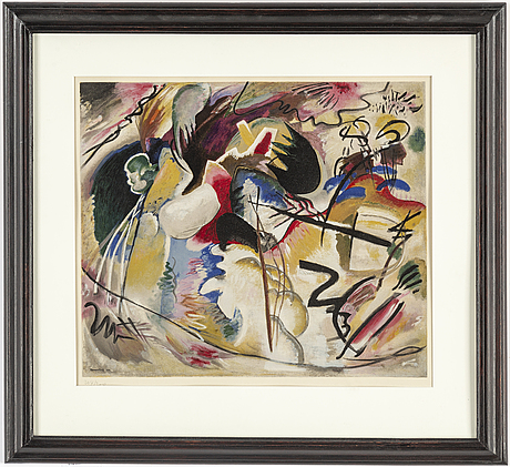 Wassily kandinsky, after, lithograph. numbered 204/250.