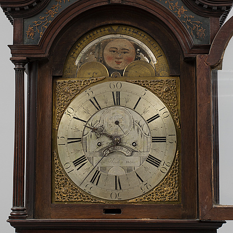 An english longcase clock, john hartley, halifax, ca 1770.