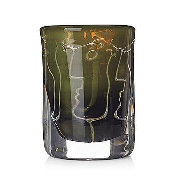 """10. Ingeborg Lundin, an """"ariel"""" glass vase """"Faces"""", Orrefors 1986."""