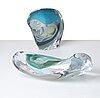 """Peter hermansson, two """"graal"""" glass sculptures, boda, sweden 2014."""