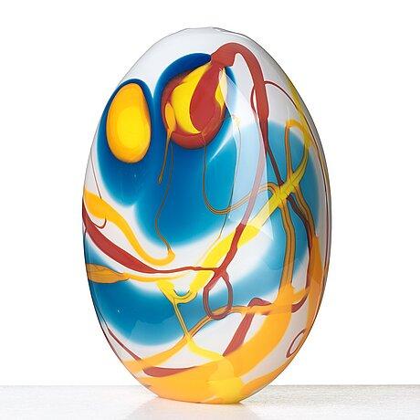 "Peter hermansson, a ""pollock"" glass vase, boda 2016."