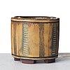 "Wilhelm kåge, a ""farsta"" stoneware vase, gustavsberg studio, sweden 1958."