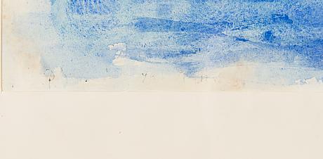 Per stenius, vesiväri paperille, signeerattu ja päivätty-49.