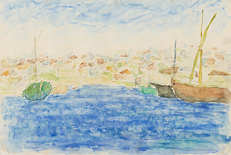 Per stenius, watercolour on paper, signed and dated-49.