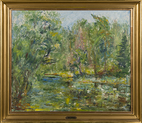 Mikko oinonen, oil on canvas, signed and dated 1955.