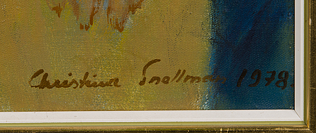 Christina snellman, oil on canvas, signed 1978.