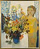 Christina snellman, girl with flowers.