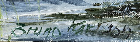 Bruno karlsson, olja på duk, sign.