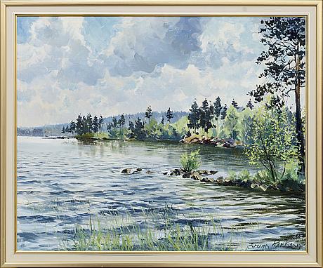 Bruno karlsson, oil on canvas, signed.