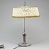 Cg hallberg, bordslampa, nysilver, 1920-tal.
