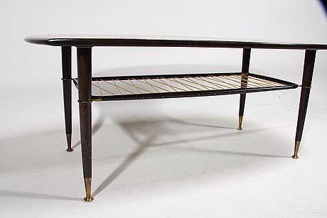 Soffbord, 1950/60-tal. etikettmärkt slutarp.