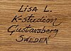 Lisa larson, advent candelabra, signed, stone ware.