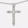 Diamond pendant w chain 18k whitegold princess and brilliant-cut diamonds 2,03 ct in total tw vs valuation 2014.