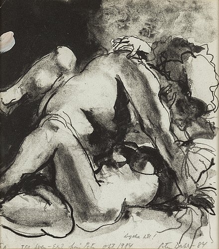 Peter dahl, lithograph, signed and dated -84. ea.