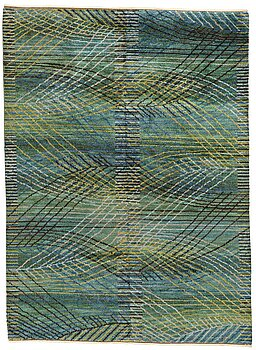 "215. Barbro Nilsson, A CARPET, ""Marina, grön"", knotted pile, ca 310 x 226 cm, signed AB MMF BN."