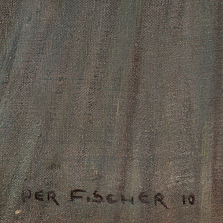 Per fischer, oil on canvas, signed and dated 1910.