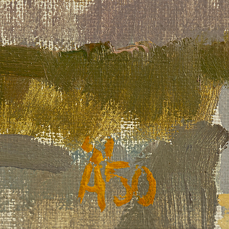 Olle Ängkvist, oil on canvas, signed and dated 1950.