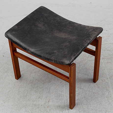 Inger klingenberg, a teak stool from france & son, denmark, 1950's/60's.